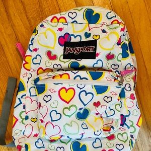 Hearts Colorful Neon Multicolor Canvas Backpack